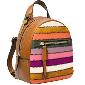 FOSSIL Women Megan Leather Mini Backpack Purse